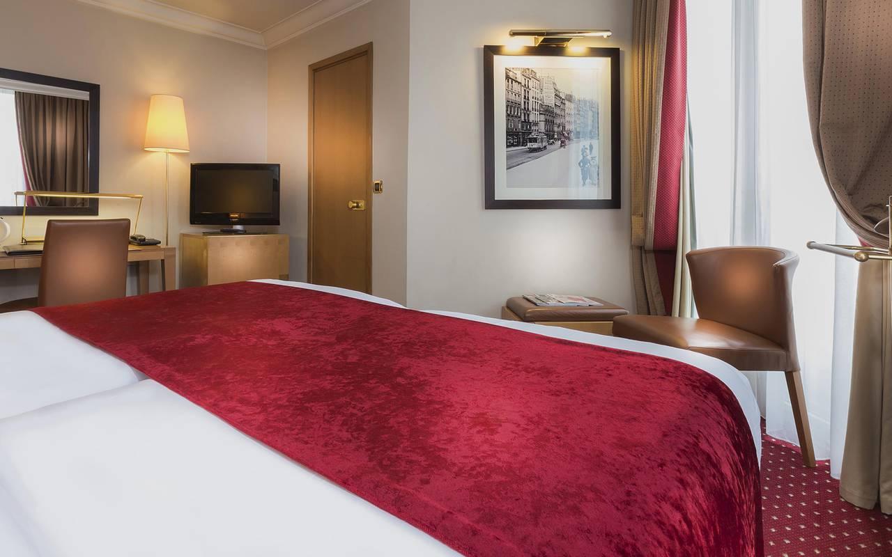 chambre twin dans un hotel du centre de paris