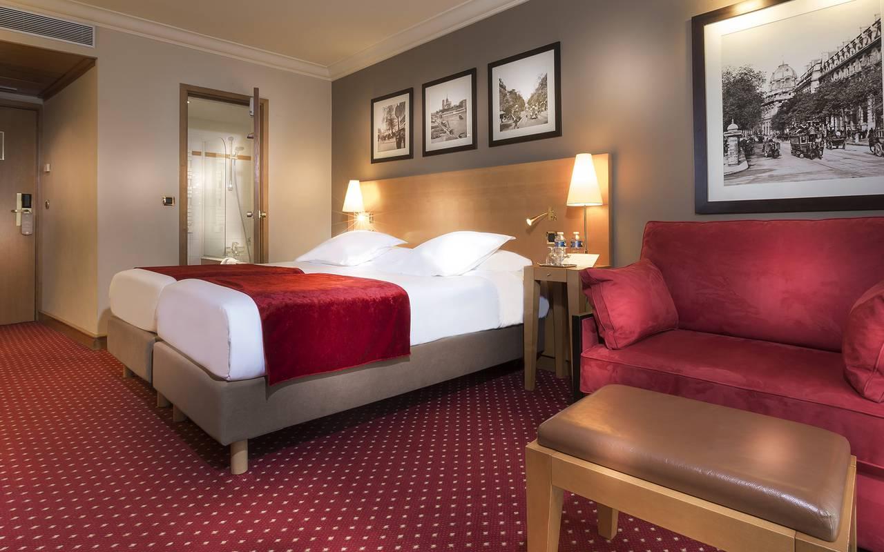 chambre d'hôtel dans le quartier latin de Paris