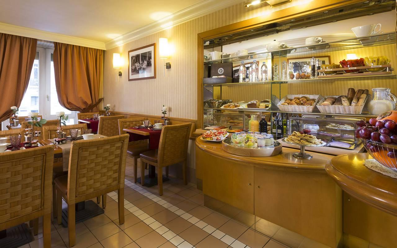 petit déjeuner dans un hôtel de charme à Paris